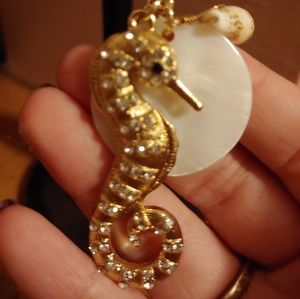 Charming Charlie gold seahorse necklace